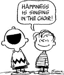 Snoopy characters singing